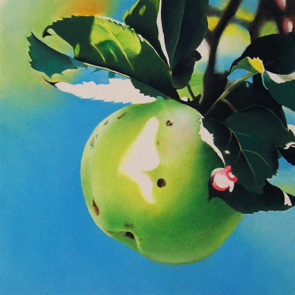 """Sky Apple - Oil"" original fine art by Jacqueline Gnott, whs"