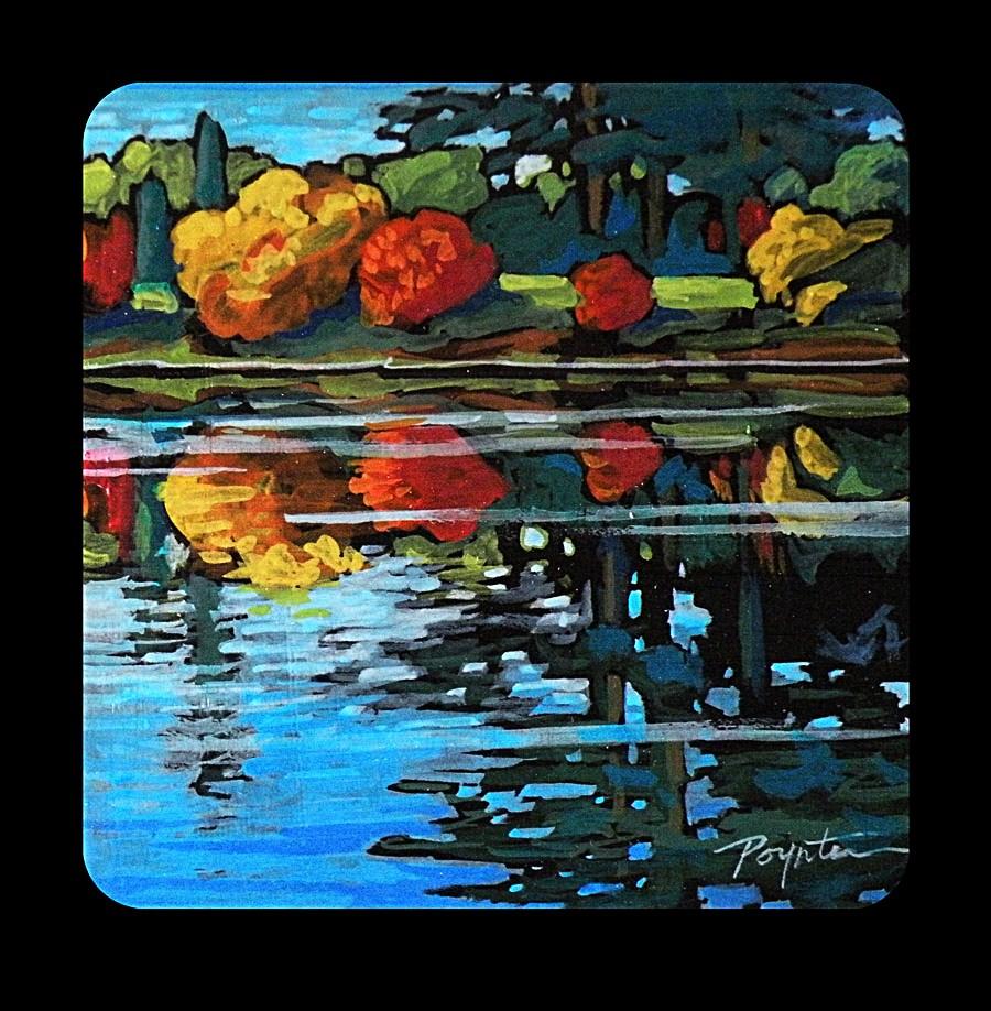 """""""3.14 VanDusen autumn"""" original fine art by Jan Poynter"""