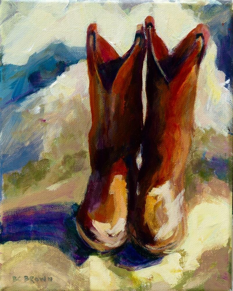 """Boots"" original fine art by Beth Carrington Brown"