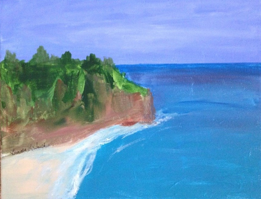 """Corona del Mar"" original fine art by Brenda Smith"