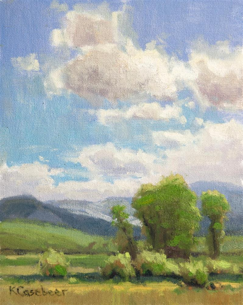"""""""Spring in Colorado"""" original fine art by Kim Casebeer"""
