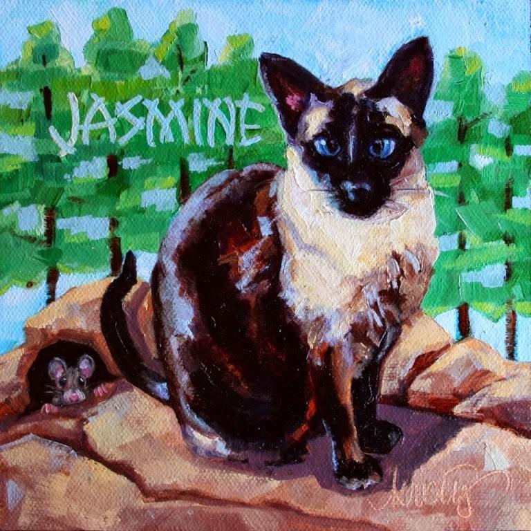 """""""JASMINE"""" original fine art by Kristy Tracy"""