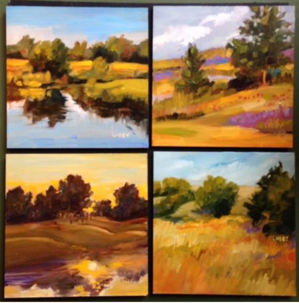 """4 X Land"" original fine art by Libby Anderson"