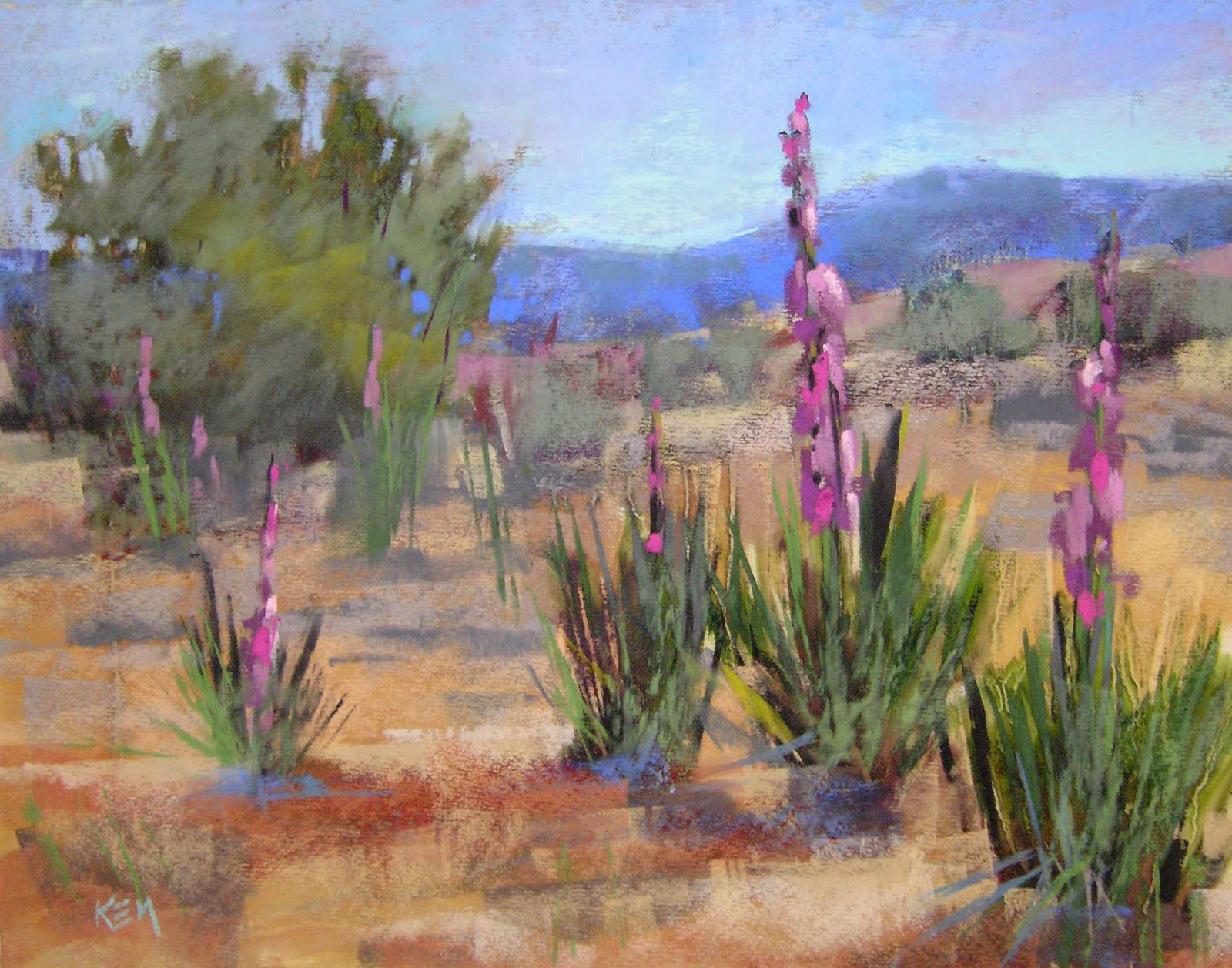 """Soaptree Yucca New Mexico"" original fine art by Karen Margulis"