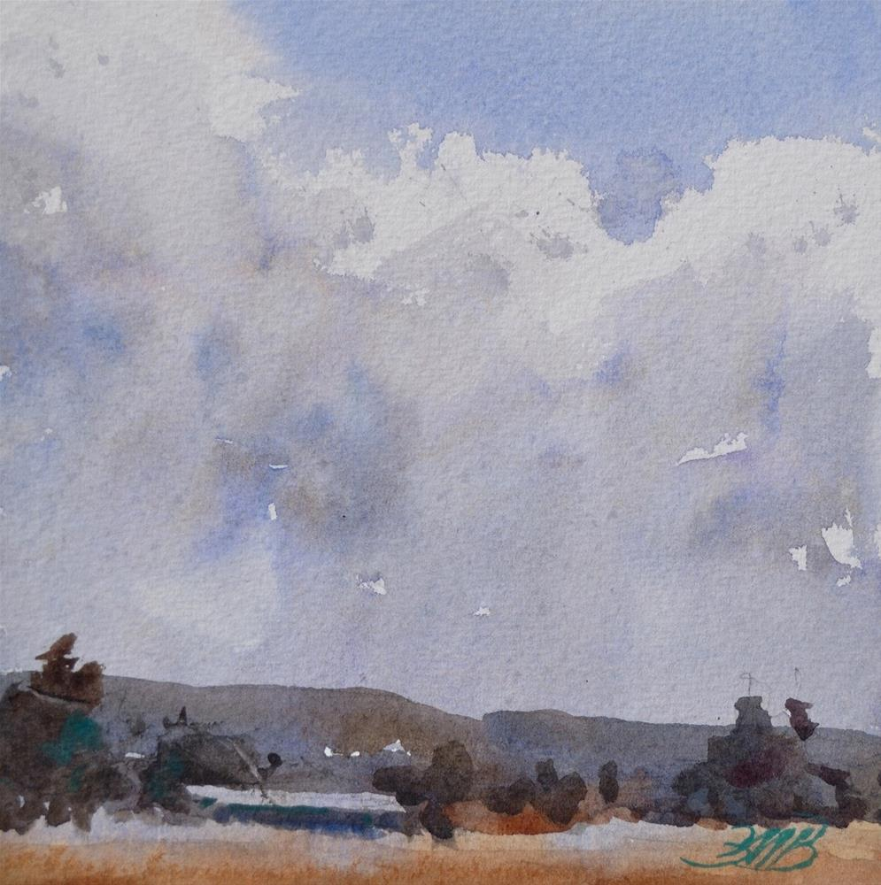 """Clouds Over Big Valley"" original fine art by Brienne M Brown"