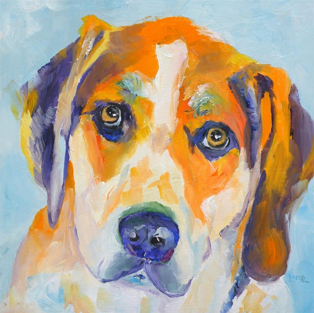 """TUCKER 39/100 OF 100 PET PORTRAITS IN 100 DAYS © SAUNDRA LANE GALLOWAY"" original fine art by Saundra Lane Galloway"