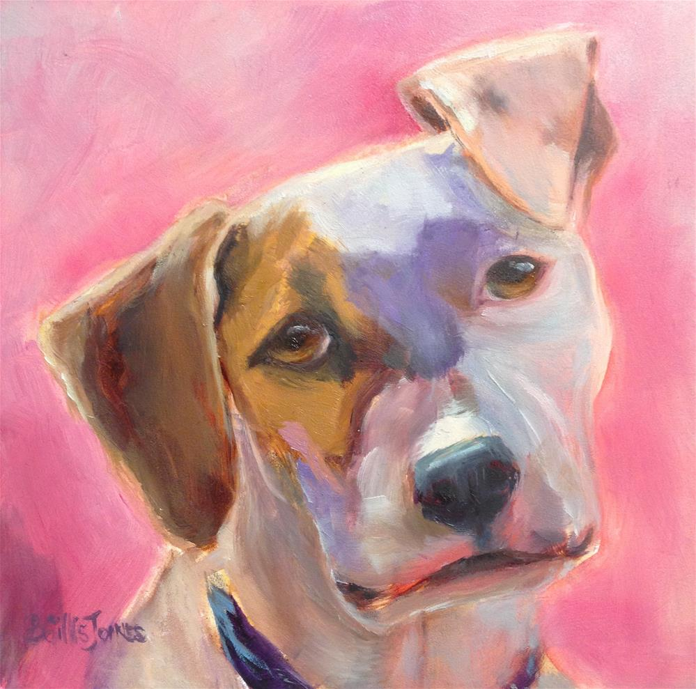 """Pantone Puppy"" original fine art by Barbara Gillis Joines"