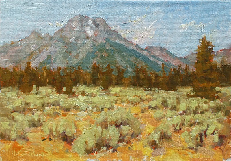 """Sunlit Moran"" original fine art by Melanie Thompson"