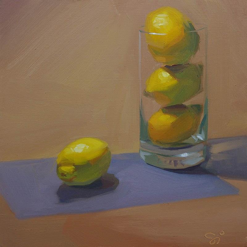 """Lemon tower"" original fine art by Istvan Schaller"