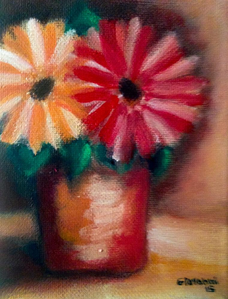 """More Gerbera Daises"" original fine art by Giovanni Antunez"