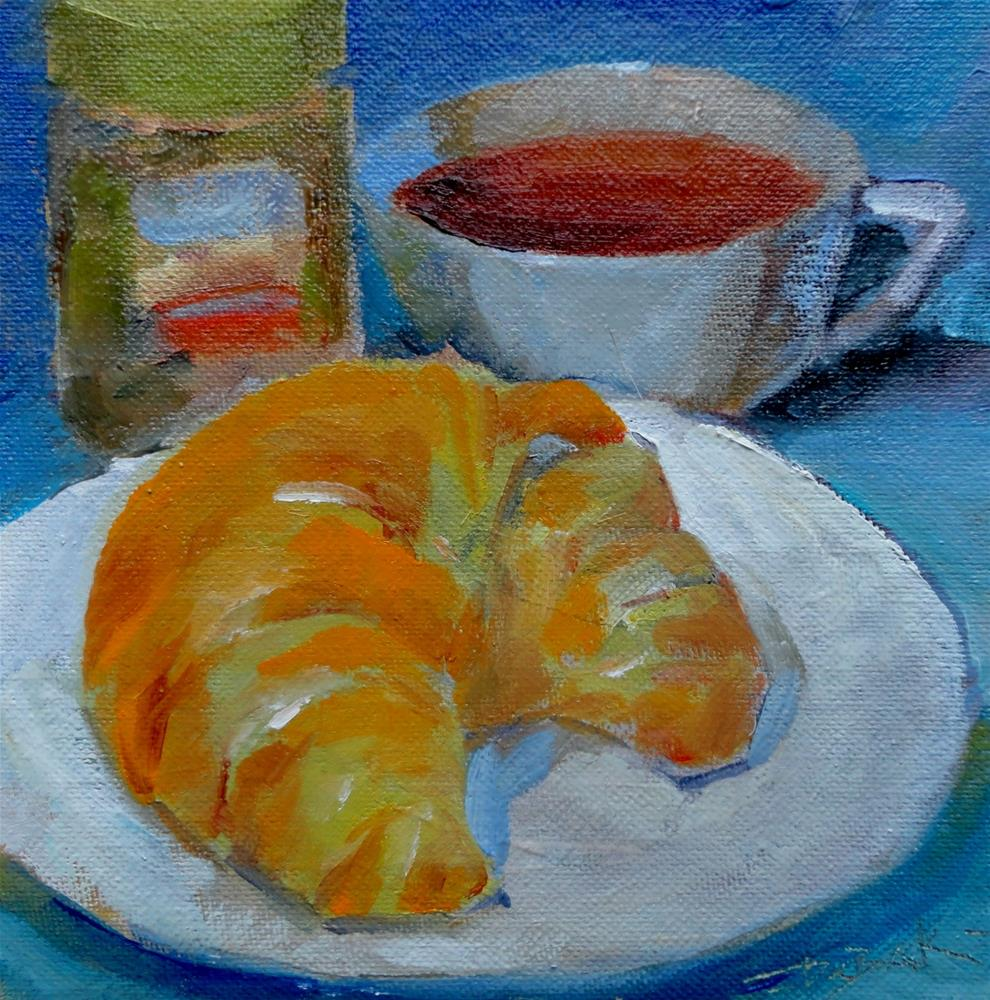 """The Pastry Challenge"" original fine art by V. DeBak"