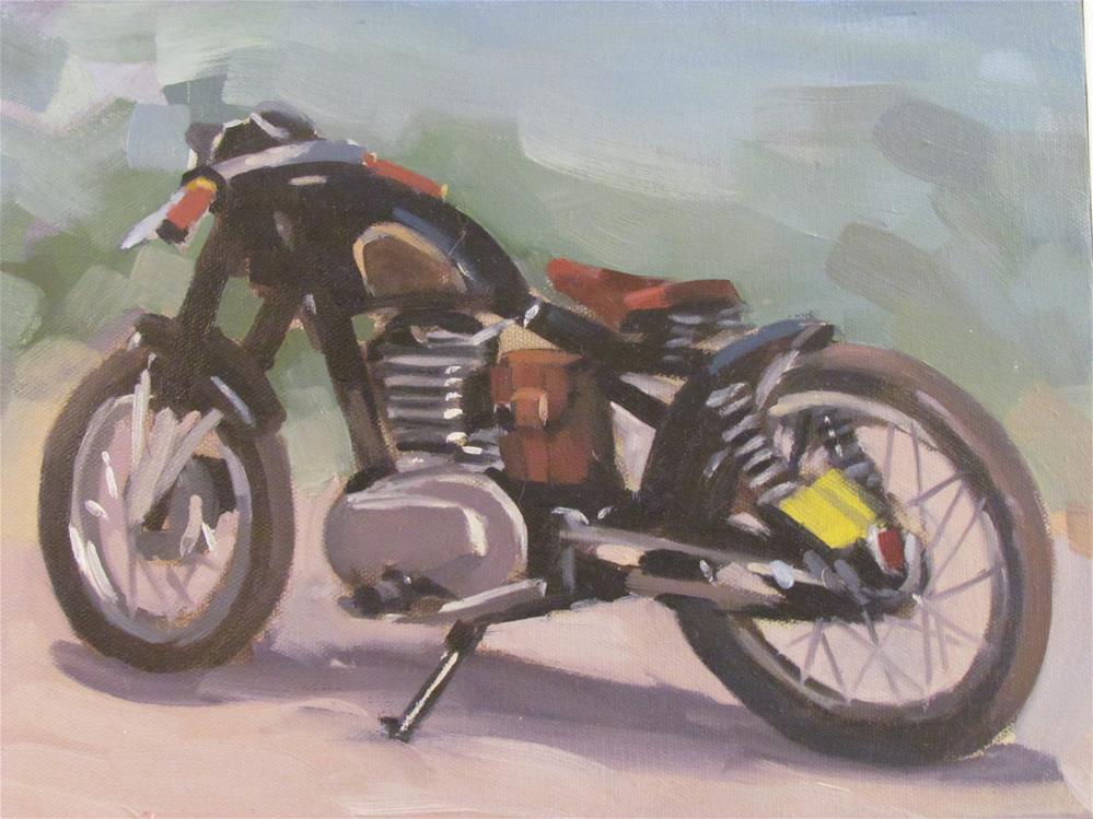 """moto racer"" original fine art by gilles Poulizac"
