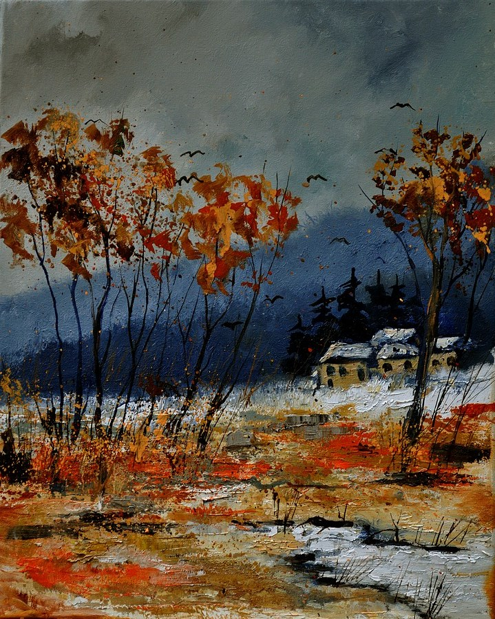 """winter 454121"" original fine art by Pol Ledent"