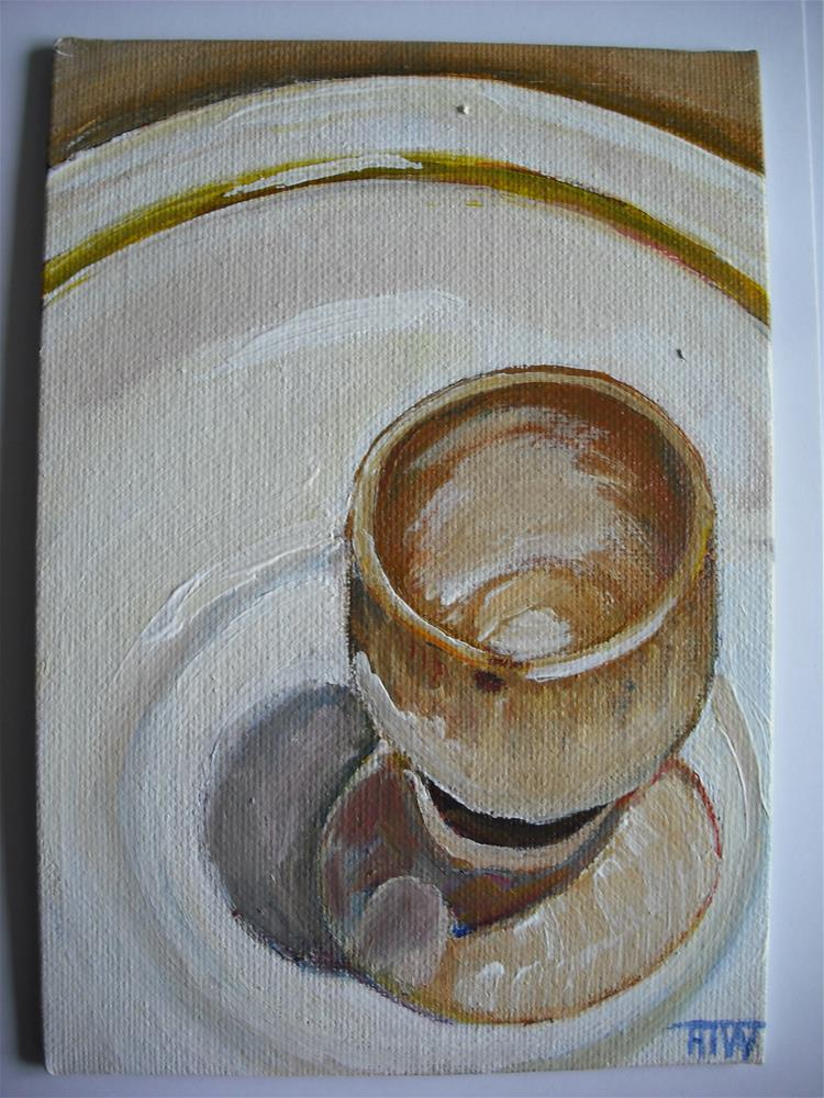 """Eggcup On A Plate"" original fine art by Heather Whiting"