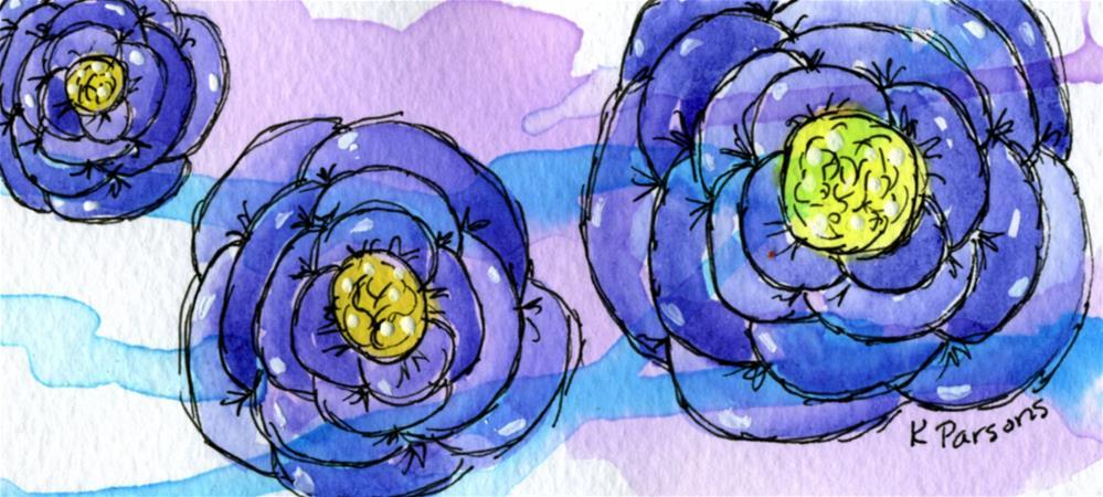 """Purple Trio"" original fine art by Kali Parsons"