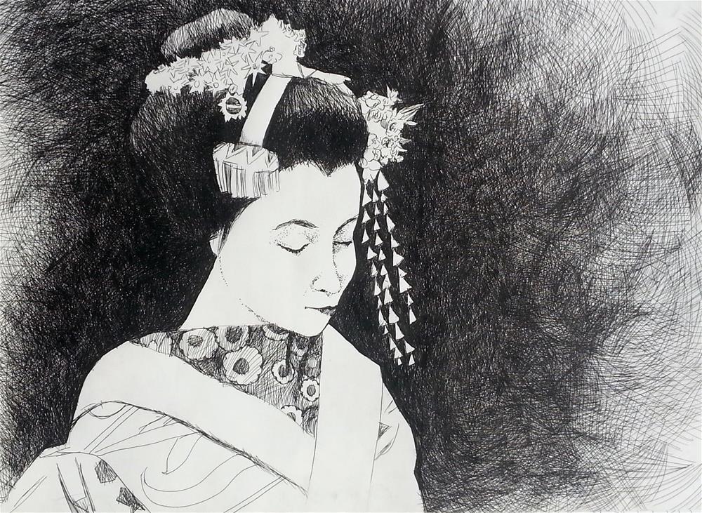 """""""Headress"""" original fine art by Nava Judith"""