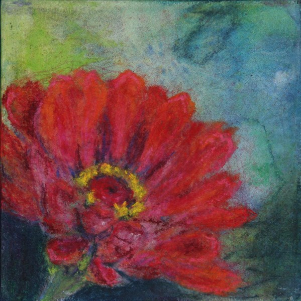 """Zinnia 2"" original fine art by Jana Johnson"