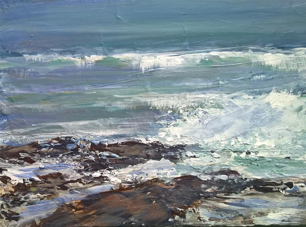 """Rocky Shore"" original fine art by Joan Matero"