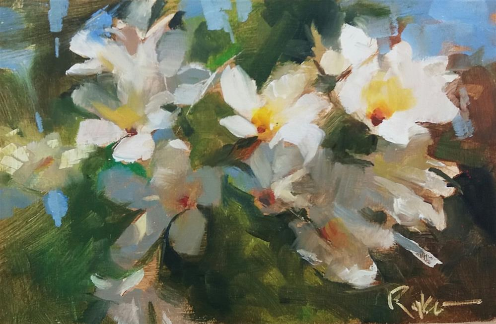 """Plumeria Obtusa"" original fine art by Paul Ryker"