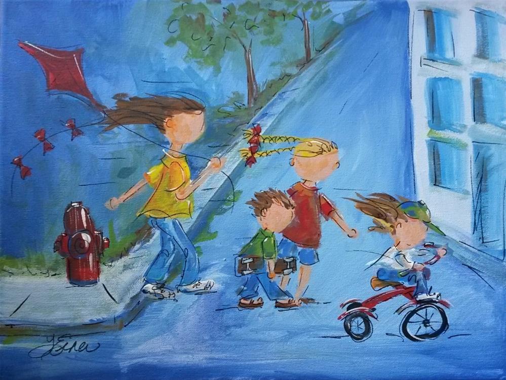 """""""To the Park2"""" original fine art by Terri Einer"""
