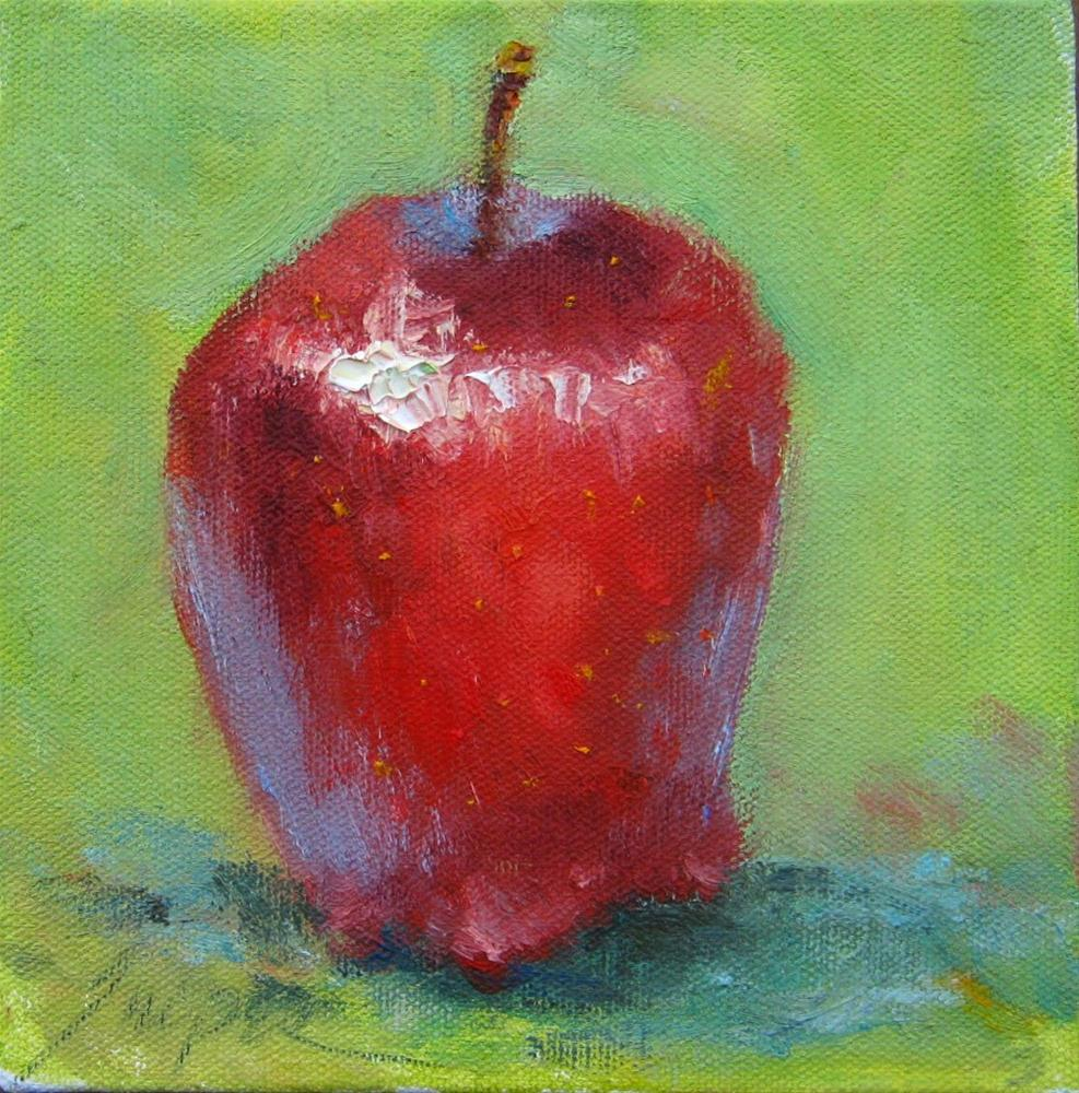 """An Apple for You"" original fine art by Connie Snipes"