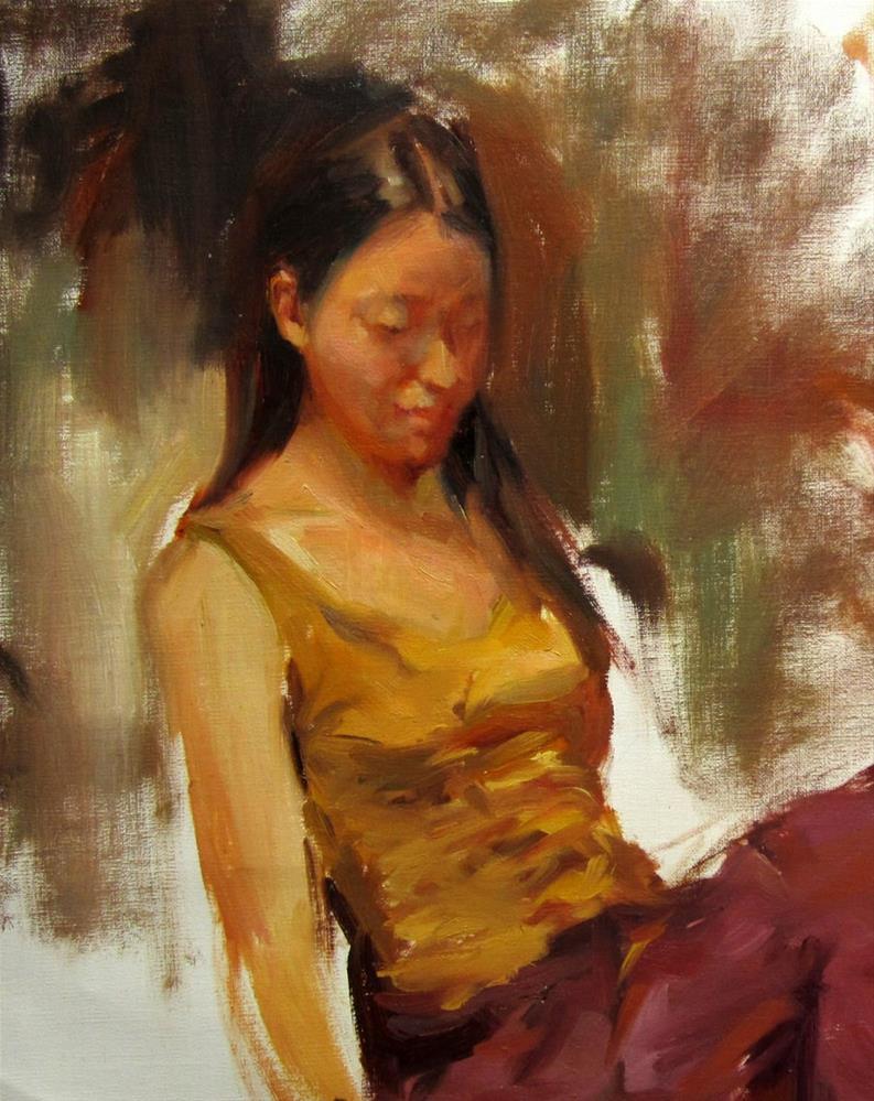 """Study"" original fine art by Taisia Kuklina"