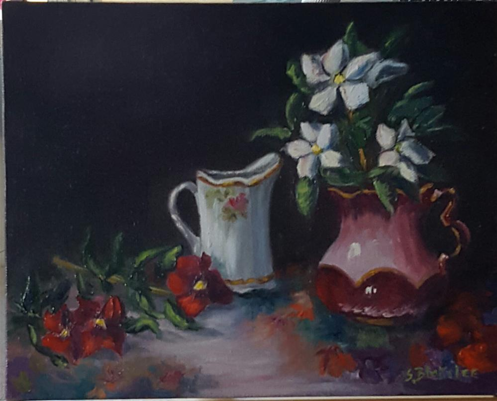 """Antique Pitchers"" original fine art by Sissy Blakslee"