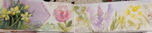 """Daffodils in the garden"" original fine art by Wendy Starita"