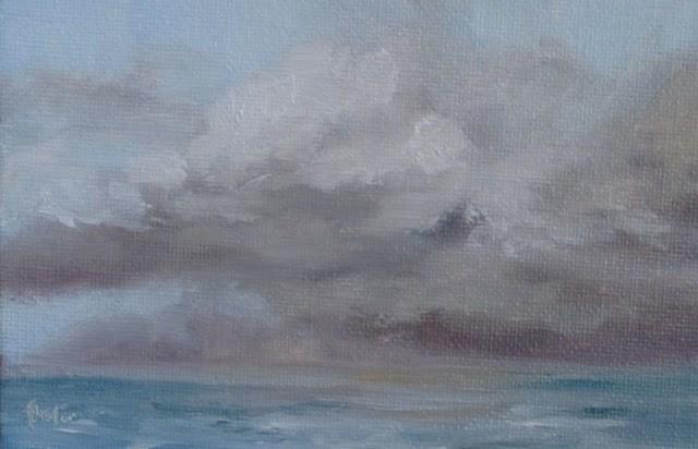 """Daily painting #725 Pumula skies"" original fine art by Heidi Shedlock"