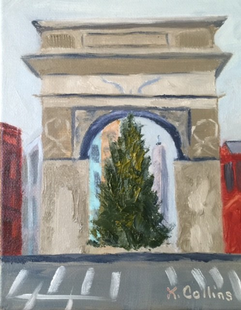 """Washington Square Arch"" original fine art by Kathy Collins"