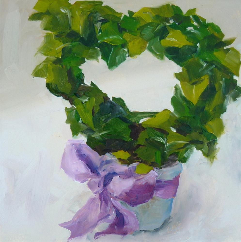 """My Heart, Like the Ivy"" original fine art by Cindy Greene"