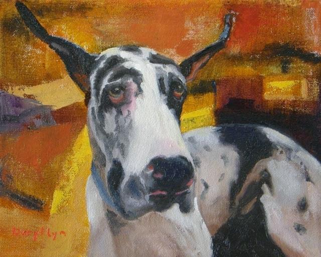 """Great Dane at Westminster – Dog #21"" original fine art by Daryl Lyn King"