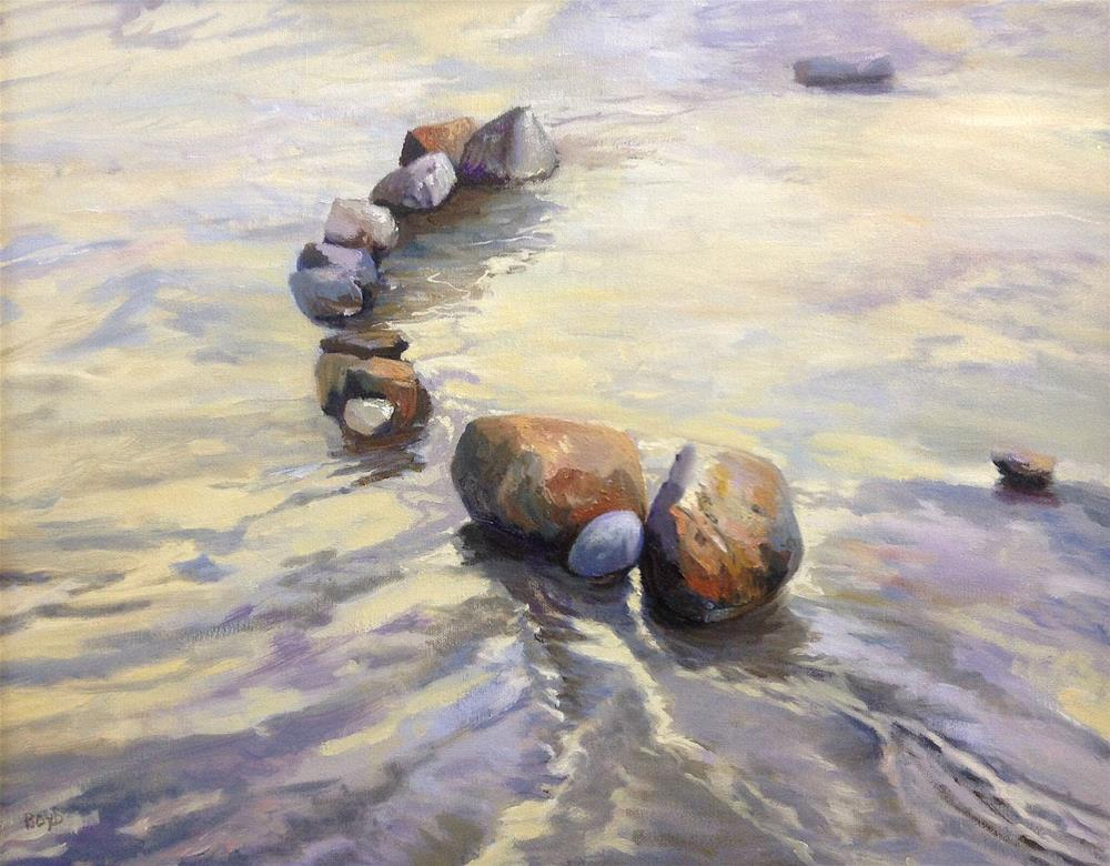 """Pretty Little Rocks All In A Row"" original fine art by Cathy Boyd"