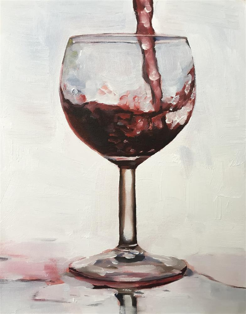 """Red Wine"" original fine art by James Coates"
