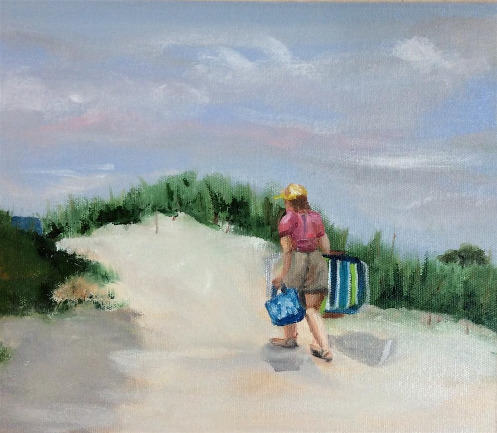 """Making Her Way"" original fine art by Patty Barnes"