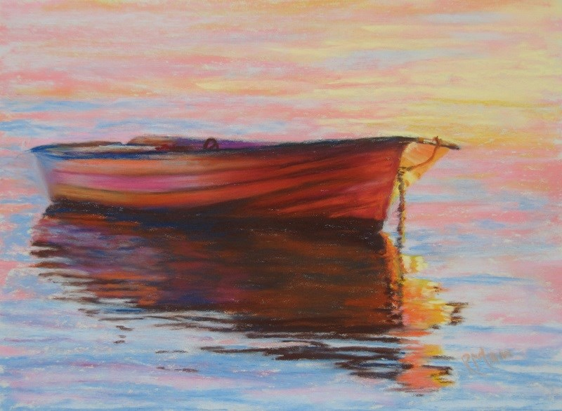 """The Mooring 2"" original fine art by Ruth Mann"