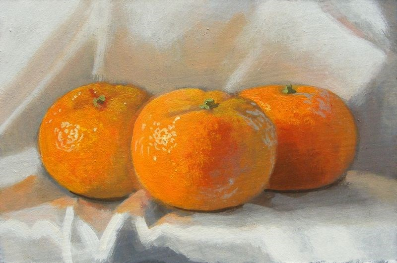 """Citrus still life"" original fine art by Peter Orrock"