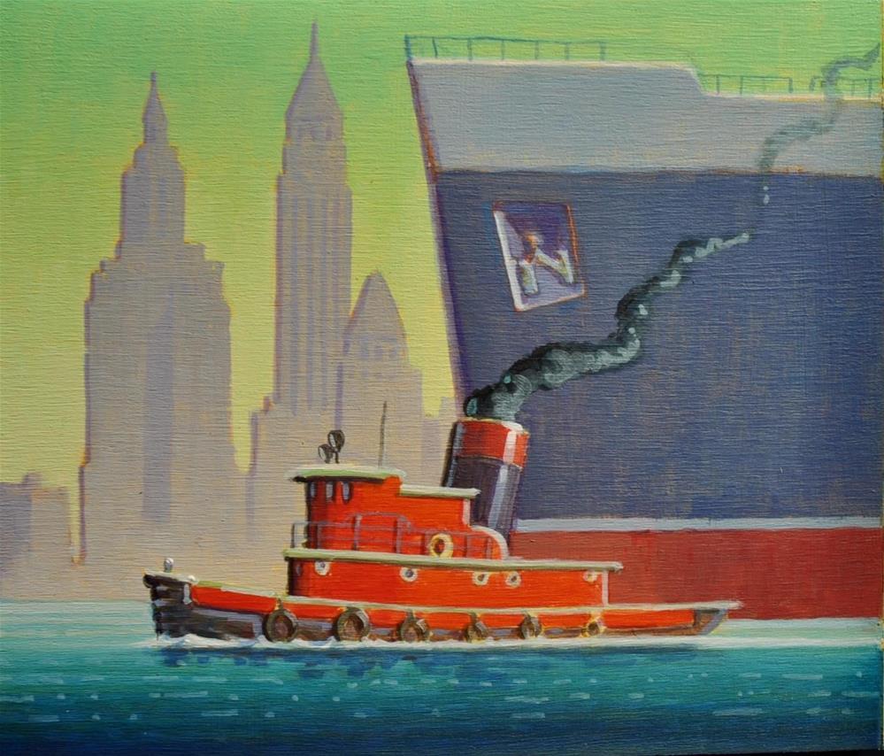 """Manhattan Tug"" original fine art by Robert LaDuke"