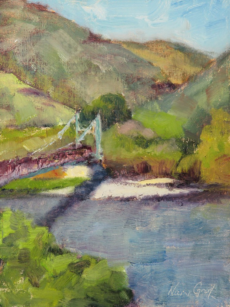 """Bridge in the Canyon"" original fine art by Naomi Gray"