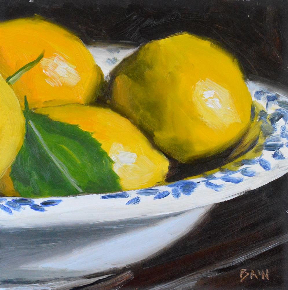 """A Bowl of Yellow"" original fine art by Peter Bain"
