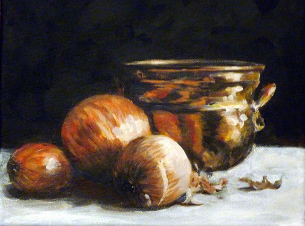 """Award-winning Onions"" original fine art by Helene Adamson"
