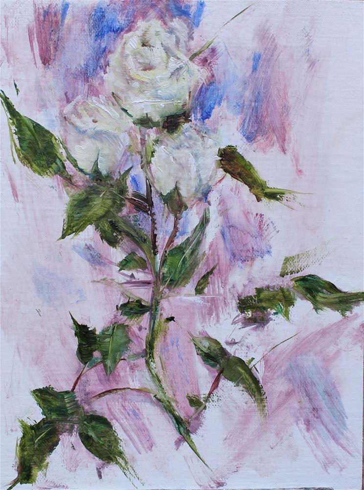 """Supermarket Roses"" original fine art by Karen Solorzano"