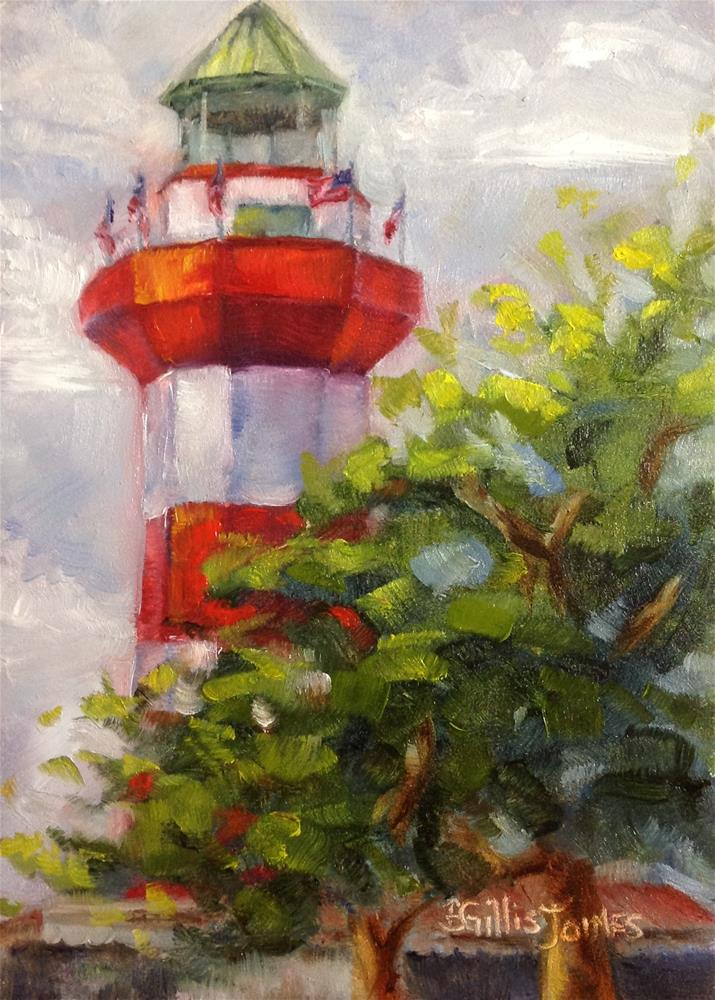 """Harbour Town Red"" original fine art by Barbara Gillis Joines"
