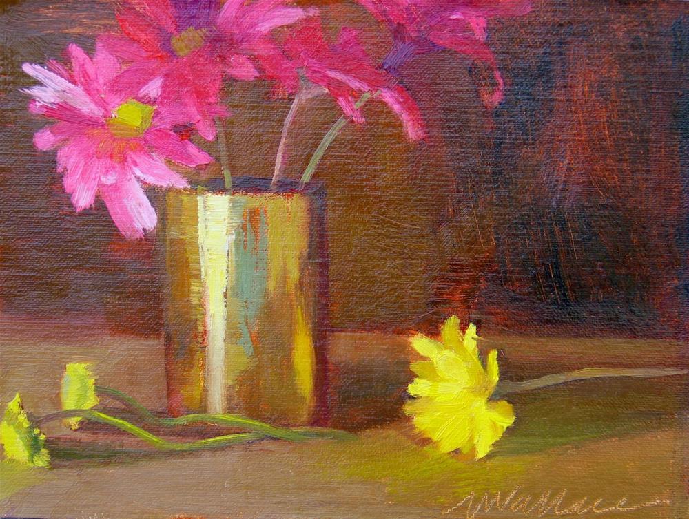 """""""#22 flower party"""" original fine art by Nancy Wallace"""