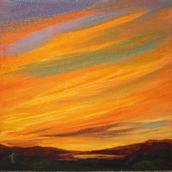 """Texas Afire"" original fine art by Jane Frederick"