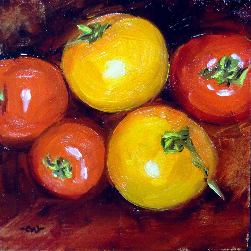 """Cherry Tomatoes"" original fine art by Cietha Wilson"