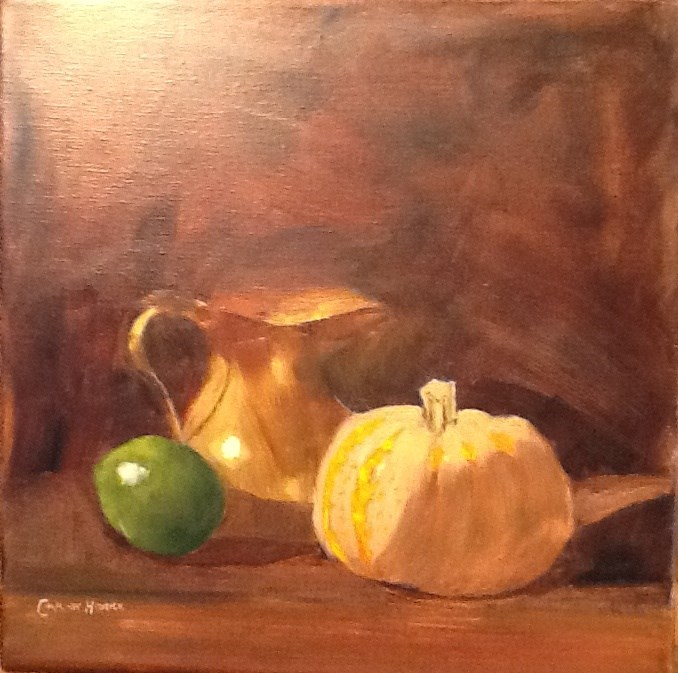 """BRASSY STILL LIFE"" original fine art by Charlotte Bankhead Hedrick"