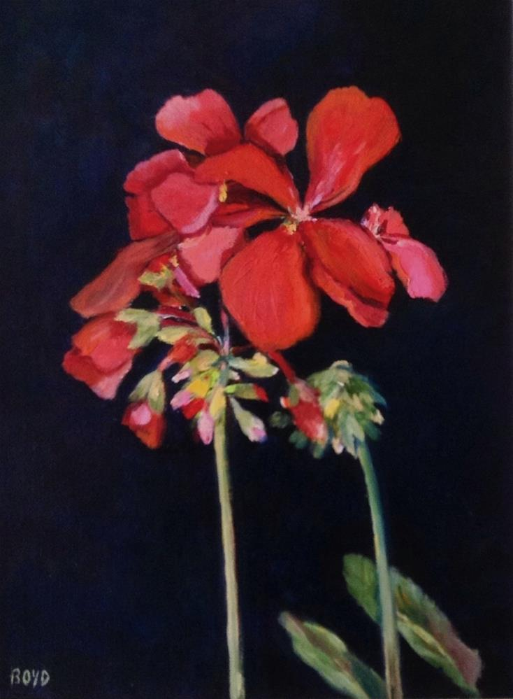 """Geraniums"" original fine art by Cathy Boyd"