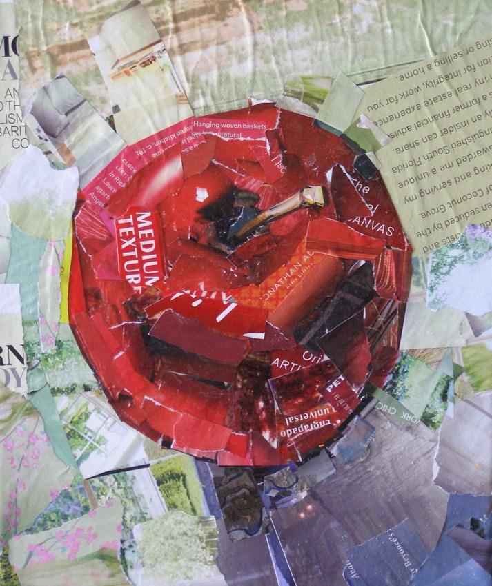 """Big Apple, 10x10 Collage on Canvas"" original fine art by Carmen Beecher"