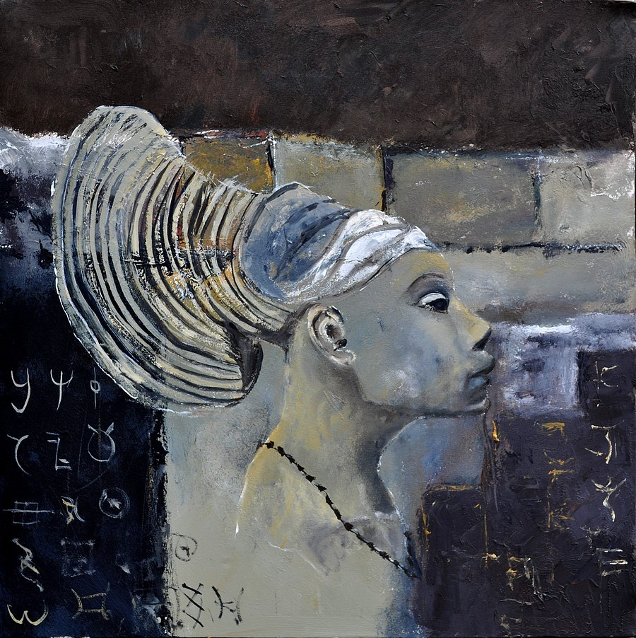 """african woman"" original fine art by Pol Ledent"